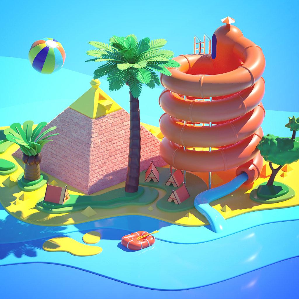 Pyramid Slide Island
