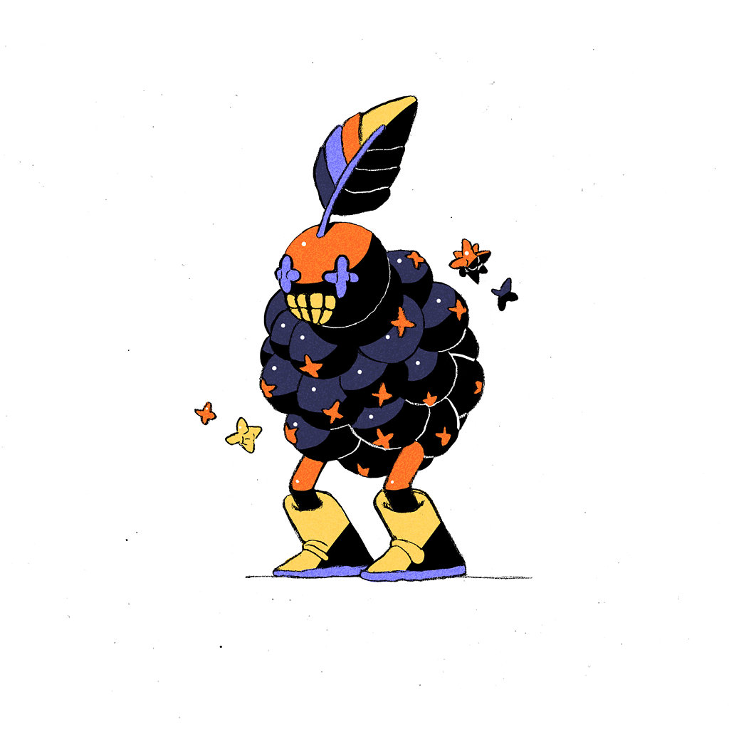 Orange Blueberry Wizard