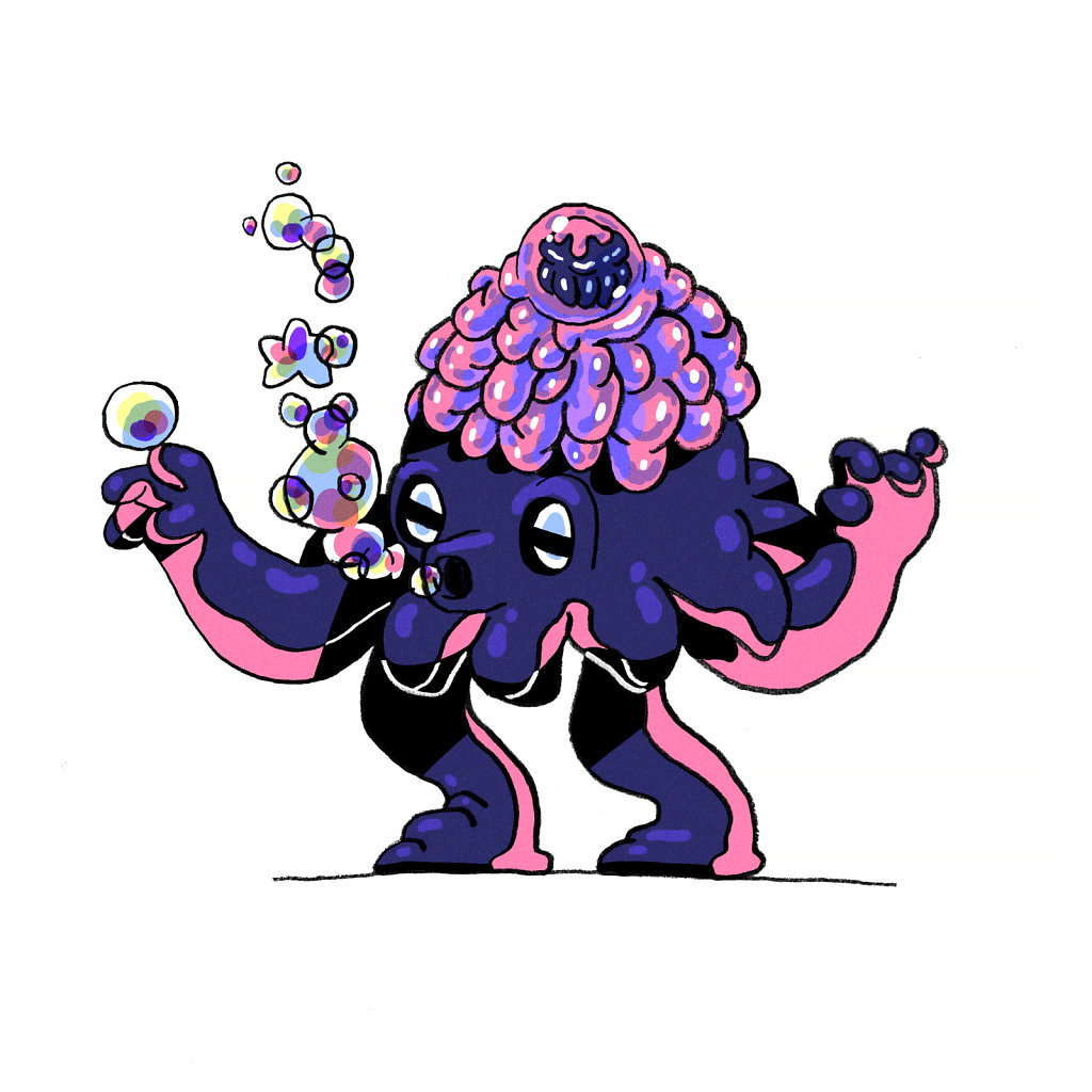 Lumpy Squid Wizard