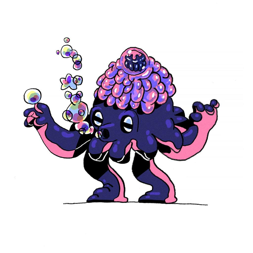 Lumpy Squid Wizard