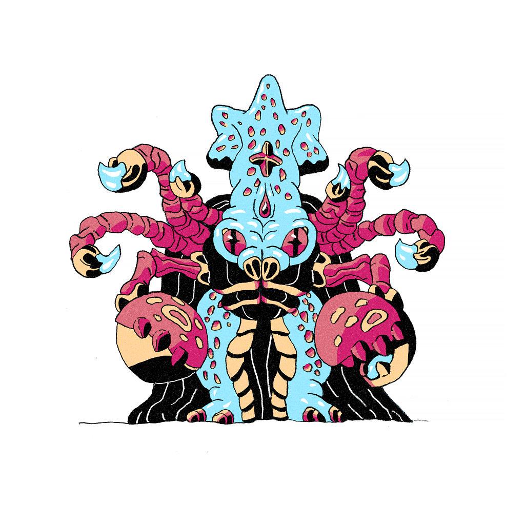 Scorpion Squid Wizard