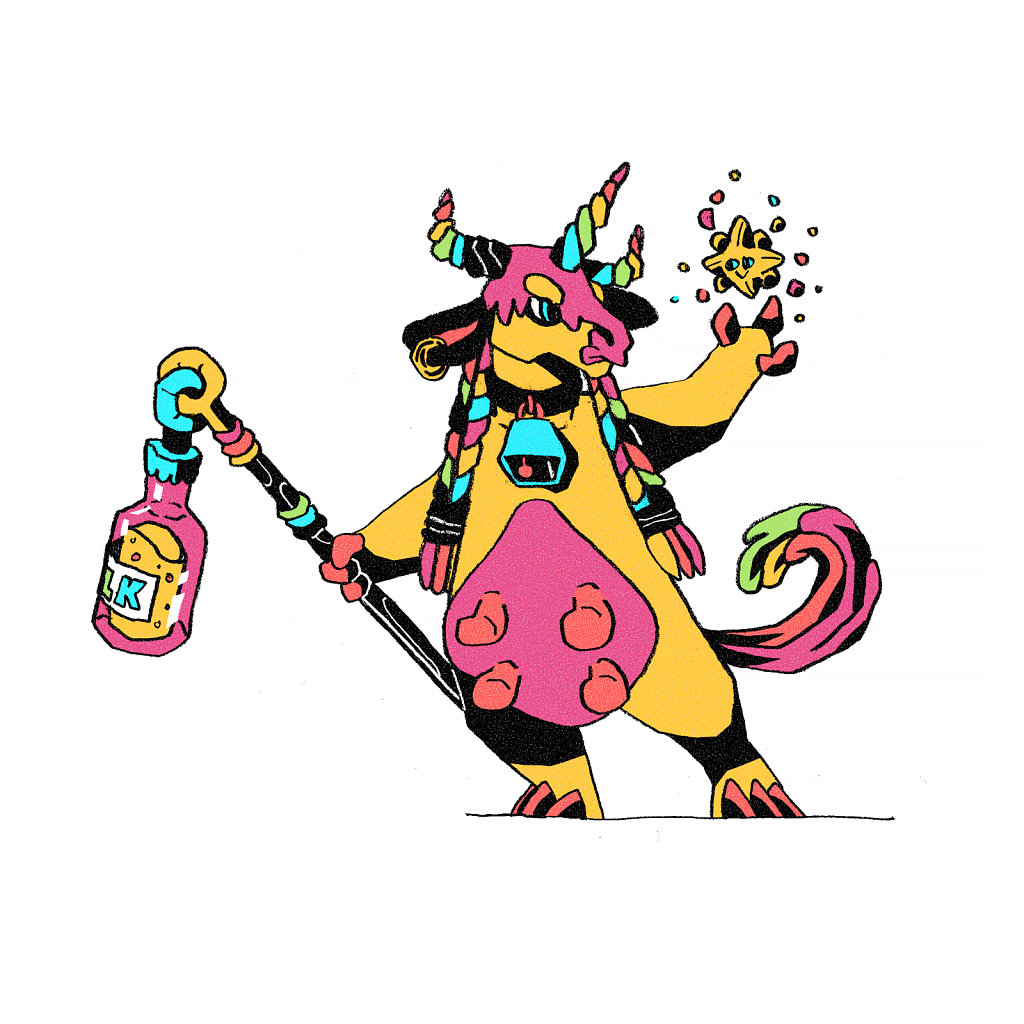 Unicorn Cow Wizard